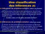 une classification des inf rences 6