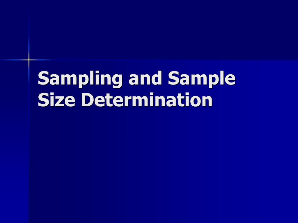 sampling and sample size determination l.