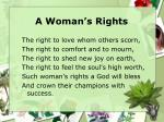 a woman s rights