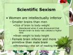 scientific sexism23