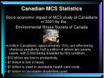 canadian mcs statistics