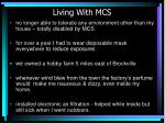 living with mcs