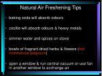 natural air freshening t ips