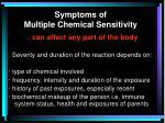 symptoms of multiple chemical sensitivity