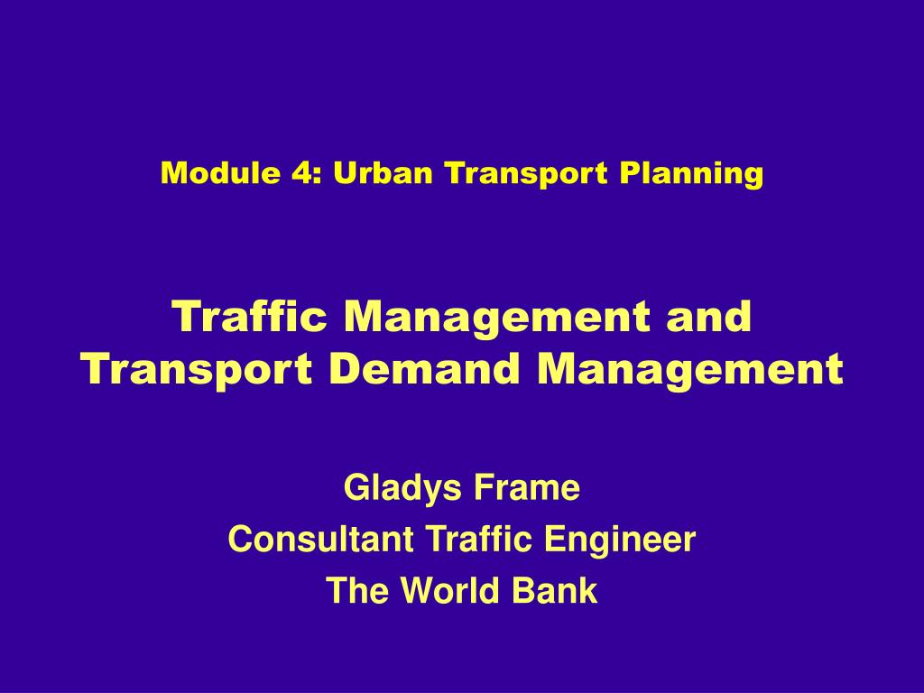 traffic management and transport demand management l.