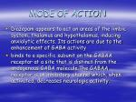 mode of action10