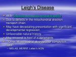 leigh s disease