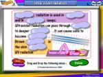 ultra violet radiation