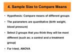 4 sample size to compare means