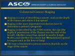 colorectal cancer staging