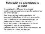 regulaci n de la temperatura corporal