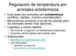 regulaci n de temperatura por animales ectot rmicos