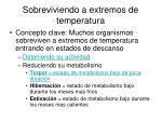 sobreviviendo a extremos de temperatura