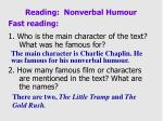 reading nonverbal humour