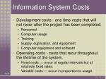 information system costs