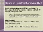 return on investment analysis roi