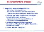 enhancements to process