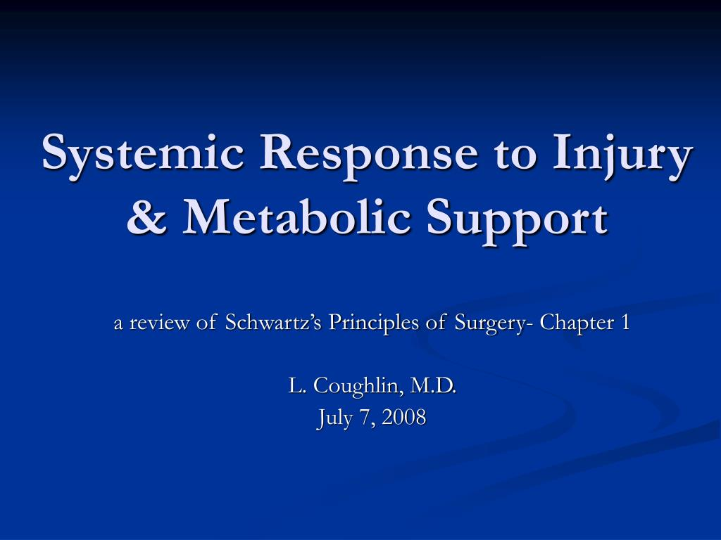 systemic response to injury metabolic support l.