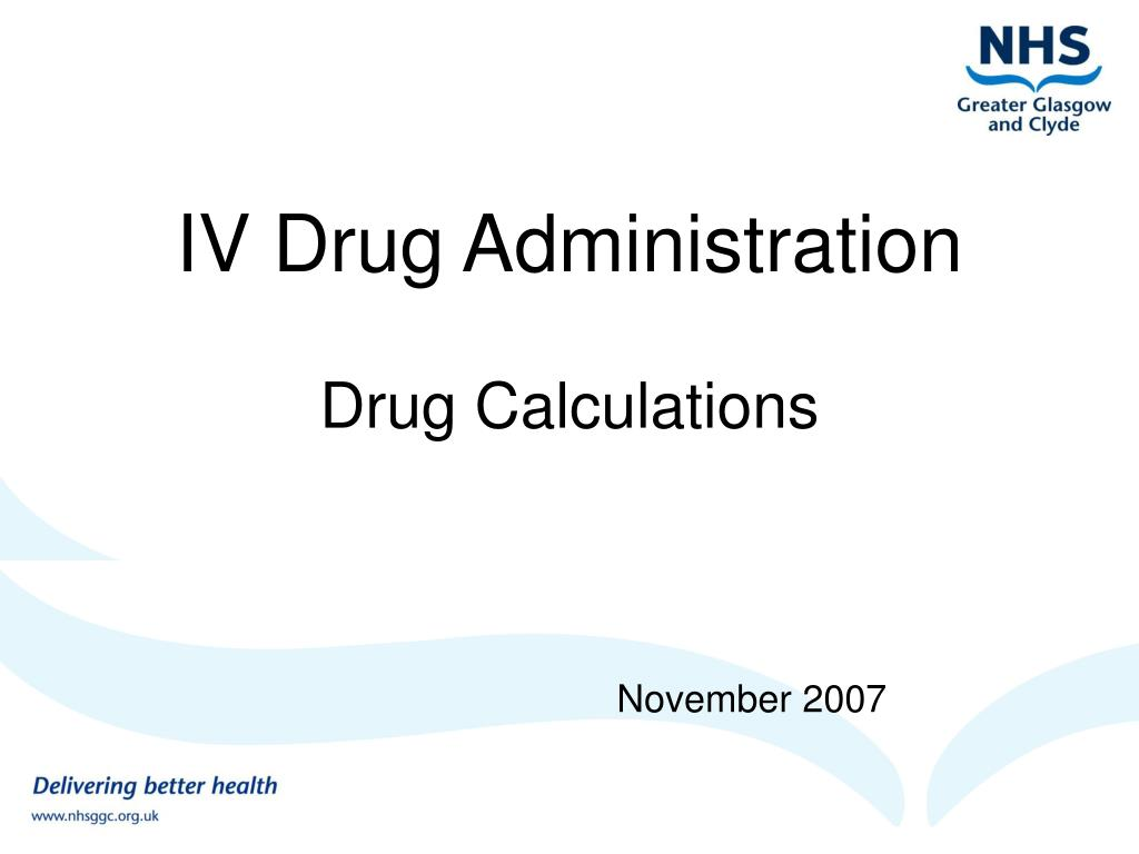 iv drug administration l.