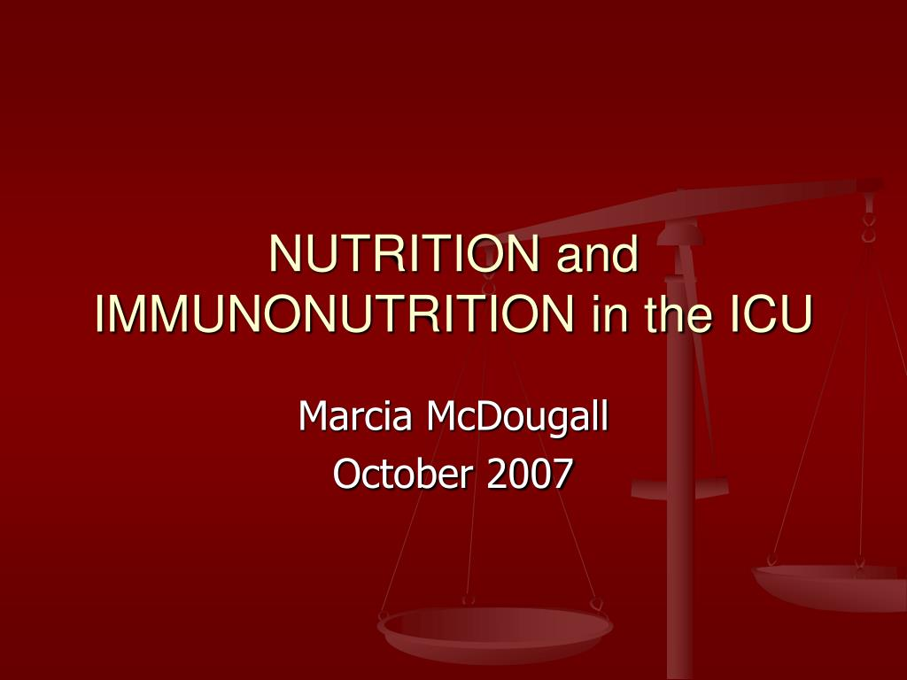 nutrition and immunonutrition in the icu l.