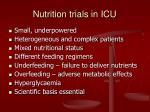 nutrition trials in icu