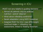 screening in icu