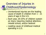 overview of injuries in childhood epidemiology