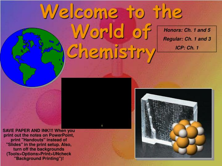 welcome to the world of chemistry n.