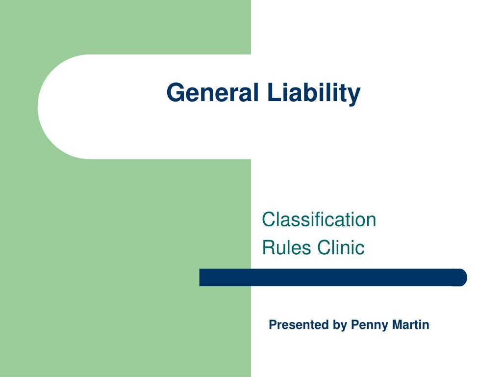 general liability l.