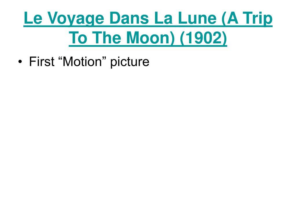 Le Voyage Dans La Lune (A Trip To The Moon) (1902)