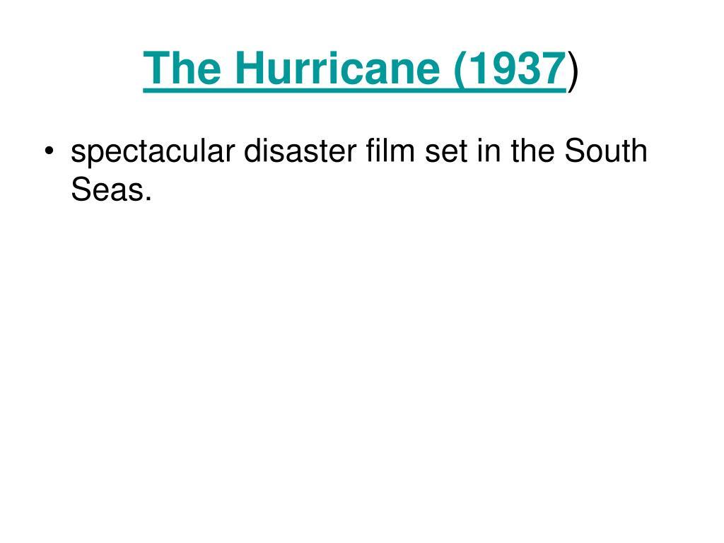 The Hurricane (1937