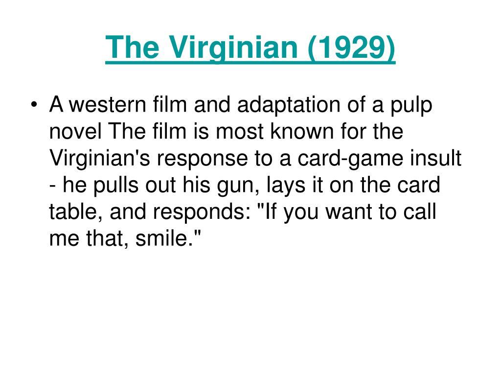 The Virginian (1929)