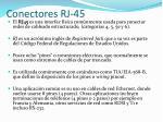 conectores rj 45