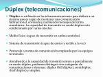 d plex telecomunicaciones