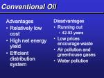 conventional oil