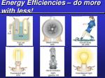 energy efficiencies do more with less