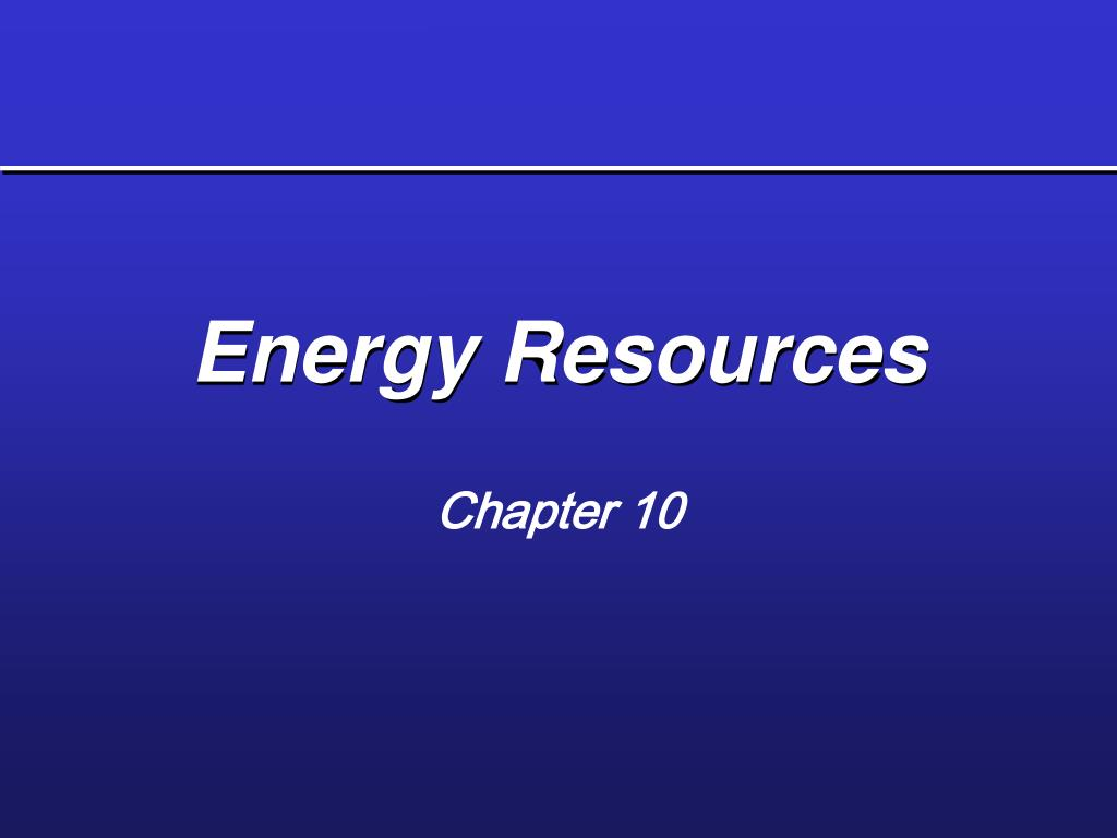 energy resources l.