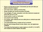 energy use and waste