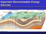 important nonrenewable energy sources