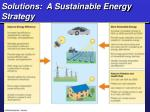 solutions a sustainable energy strategy