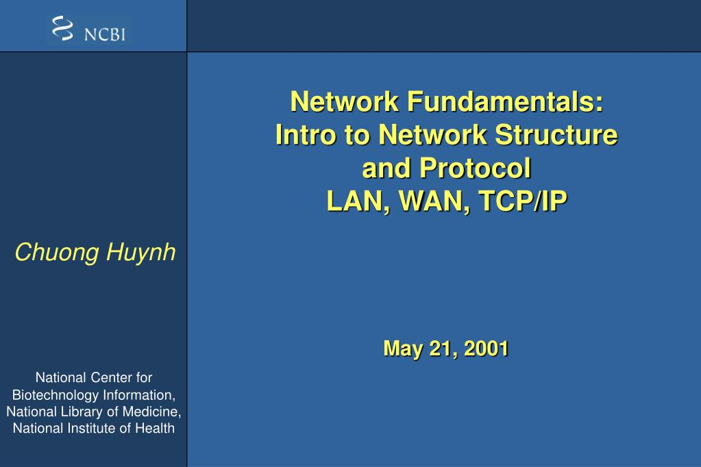 network fundamentals intro to network structure and protocol lan wan tcp ip l.