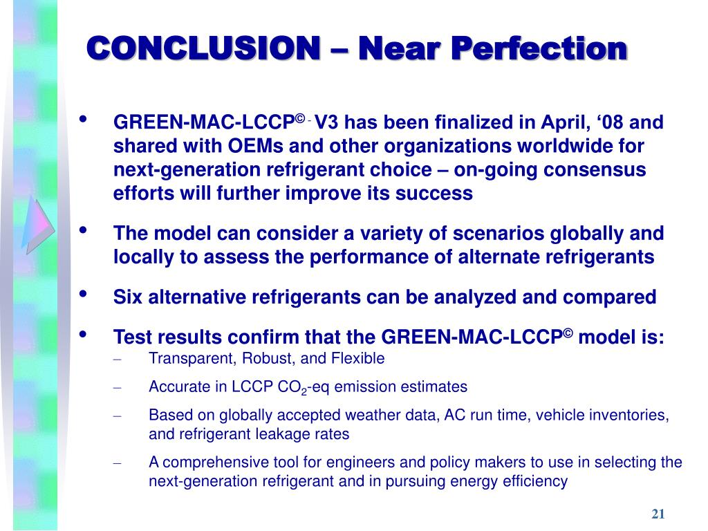 CONCLUSION – Near Perfection