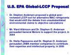 u s epa global lccp proposal