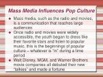 mass media influences pop culture