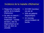 incidence de la maladie d alzheimer