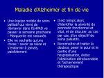 maladie d alzheimer et fin de vie
