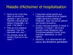 maladie d alzheimer et hospitalisation
