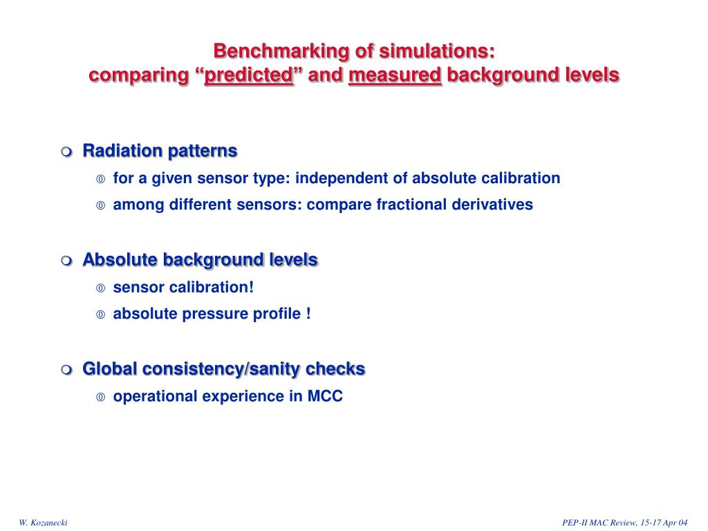 """Benchmarking of simulations:                                       comparing """""""