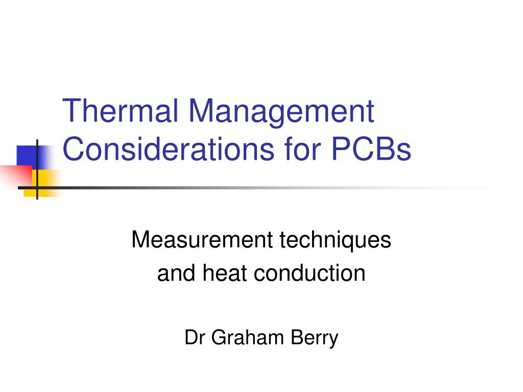 thermal management considerations for pcbs l.