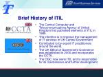 brief history of itil